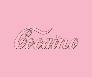 pink, wallpaper, and cocaine image