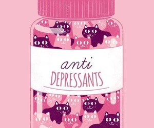 cat, pink, and antidepressant image