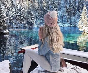 season, winter, and snow image