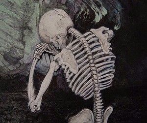 theme, skeleton, and art image