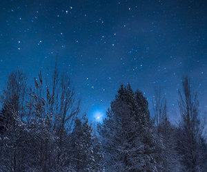 winter, night, and stars image