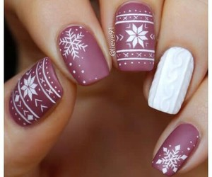 beauty, christmas, and nails image