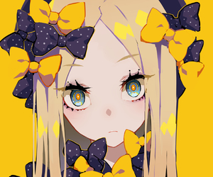 anime, anime girl, and yellow image