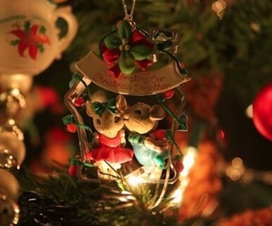 christmas tree, holiday, and cute image