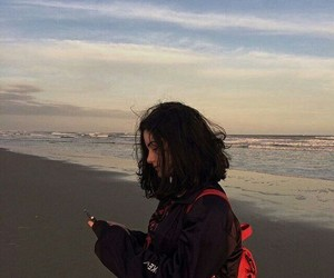 girl, aesthetic, and beach image