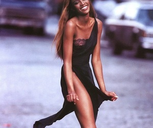 model, Naomi Campbell, and 90's image