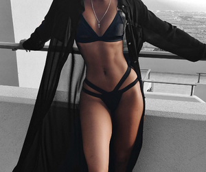 fit, girl, and black image