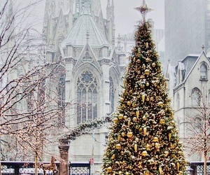 church, holiday, and lights image