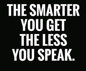 quote, smart, and speak image