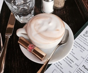 coffee and lipstick image