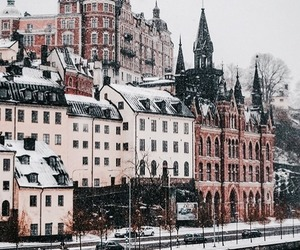 city, winter, and travel image