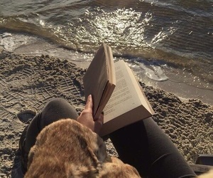 book, aesthetic, and beach image