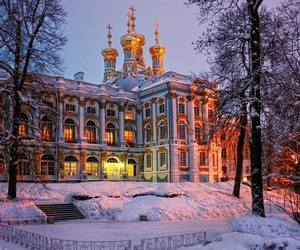 palace, snow, and russia image