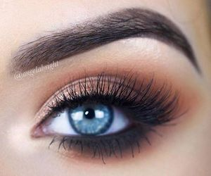 eyebrows, eyeshadow, and lashes image