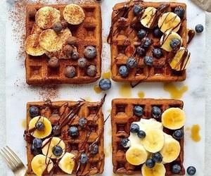 banana, food, and waffles image