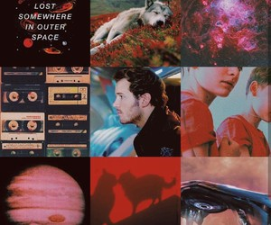 aesthetic, character, and red image