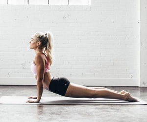 fitness, girl, and yoga image