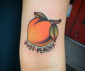 tattoo, peach, and orange image