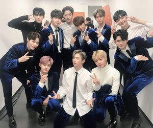 wanna one, bae jinyoung, and hwang minhyun image
