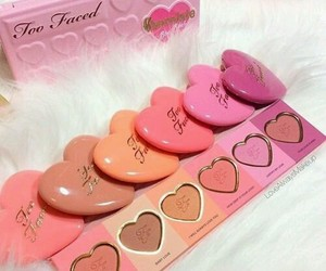 make up, makeup, and too faced image