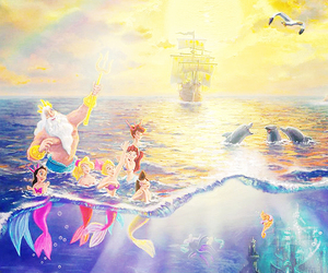 disney, fish, and the little mermaid image
