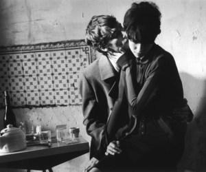 couple, kiss, and vintage image