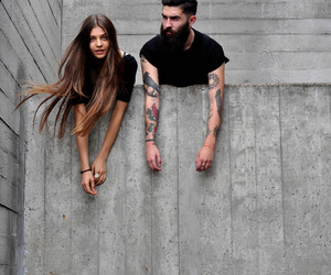 tattoo, girl, and couple image