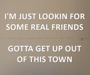 Lyrics, song, and town image