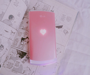 pink, phone, and grunge image
