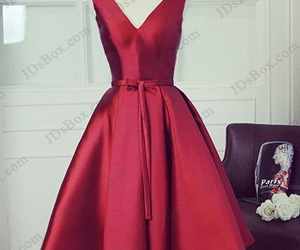 homecoming dresses, little red dress, and short prom dress image