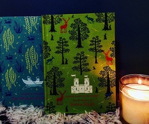books, robin hood, and candle image