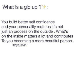 glo up image