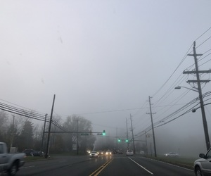 clouds, driving, and foggy image