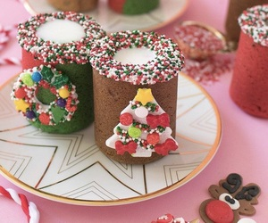 christmas, cookie, and milk image