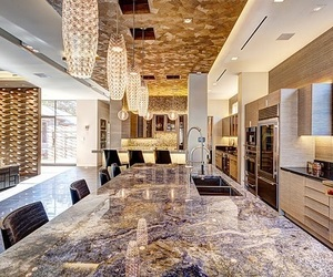 luxury, house, and kitchen image