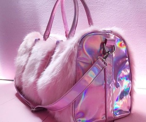 holographic, pink, and bag image