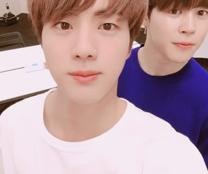 bts, jimin, and jin image