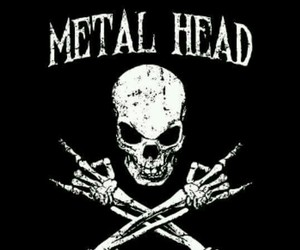 skull, black, and metal image