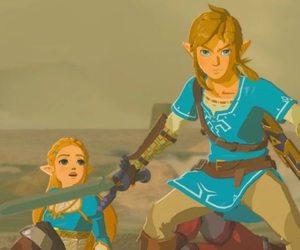 link, zelda, and botw image