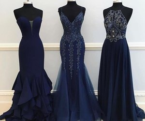 blue, blue dress, and dark blue image