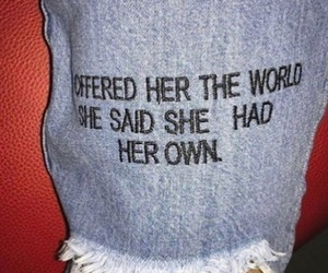 quotes, jeans, and world image