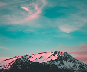 background, blue, and mountain image