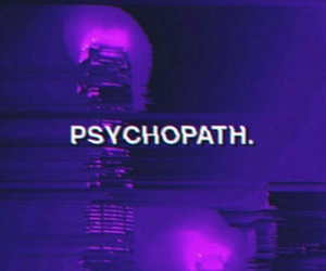 purple, aesthetic, and psychopath image