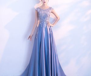 elegant, girl, and prom dress image