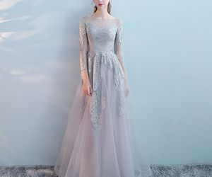 evening dress, fashion, and girl image