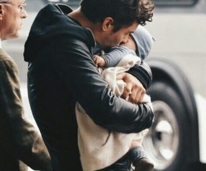 baby, father, and family image