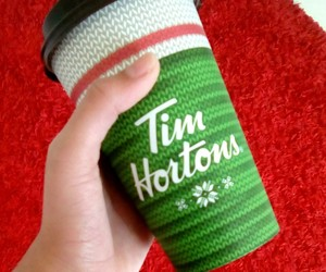 coffee, green, and timhortons image