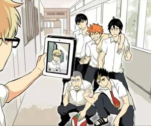 haikyuu, funny, and anime image