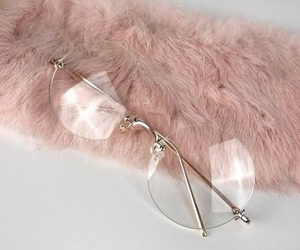 pink, glasses, and style image