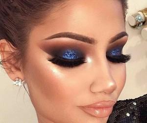 eyeshadow, lipstick, and makeup image